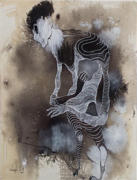 """Identity I"" / Acrylic on paper / 39cm x 30cm / Ksh 40,000 / CODE BM:2016:03 SOLD"