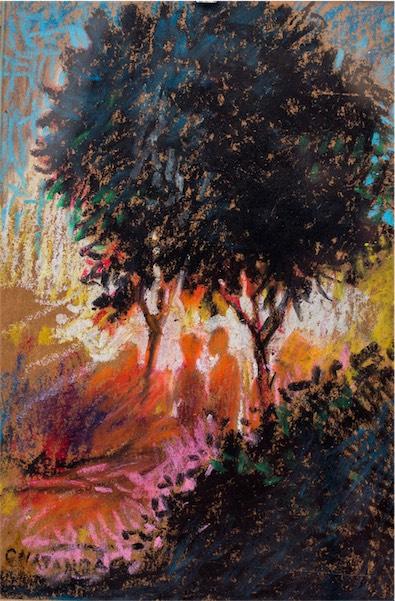 """Penzi C."" / Oil pastels on paper / 10cm x 6cm / SOLD / CODE CC:2015:03"