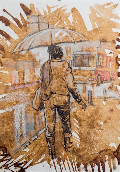 Untitled / Oil pastels on paper / 10cm x 6cm / Ksh 5,600 / CODE CC:2015:04