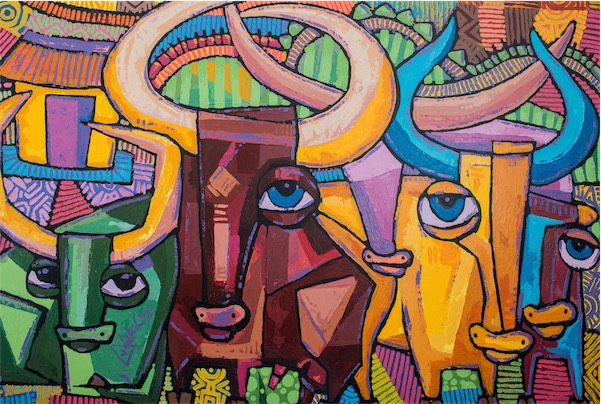 """Rugosi"" / Acrylic on Canvas / 140cm x 95.5cm / Ksh 150,000 / Code no LS:2015:05"