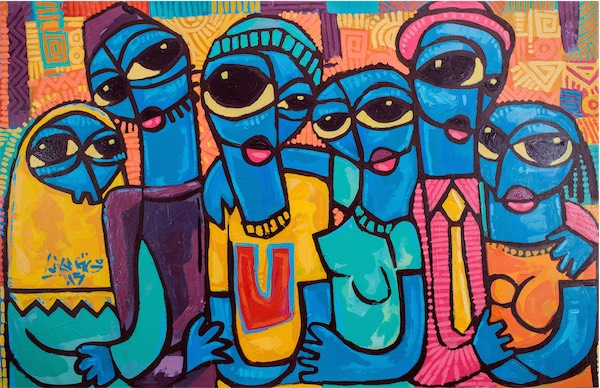 """Ubuntu (Solidarity)"" / Acrylic on Canvas / 116cmx74.5cm / Ksh 100,000 / Code no LS:2015:06"