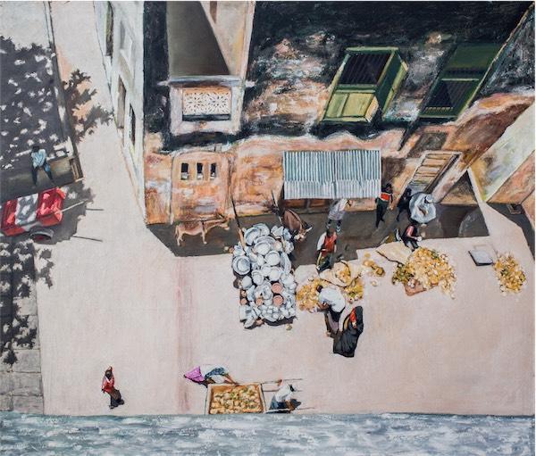 """Madafu"" / Oil pastel on canvas / 161cm x 137cm / Ksh. 580,00 / CODE SG:2016:01"